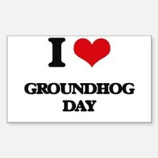 I Love Groundhog Day Decal