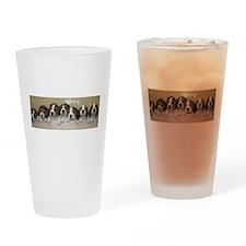 beagle puupies Drinking Glass