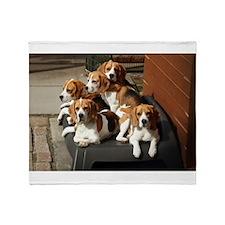 beagles Throw Blanket