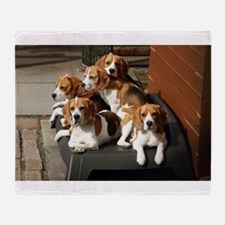 beagles Throw Blanket