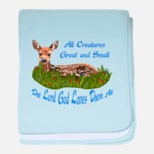 ALL CREATURES GREAT AND SMALL baby blanket