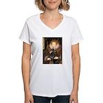 The Queen's Dobie Women's V-Neck T-Shirt