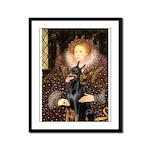 The Queen's Dobie Framed Panel Print