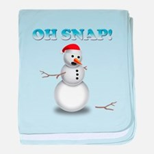 Oh, SNAP! Snowman baby blanket