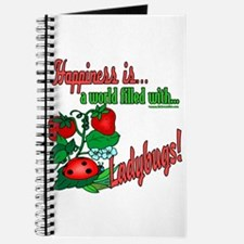 Happiness is a ladybug Journal