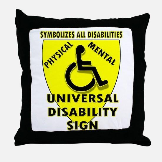 DISABILITY SIGN Throw Pillow