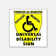 DISABILITY SIGN Sticker