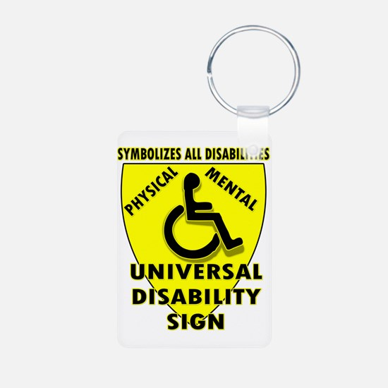DISABILITY SIGN Keychains