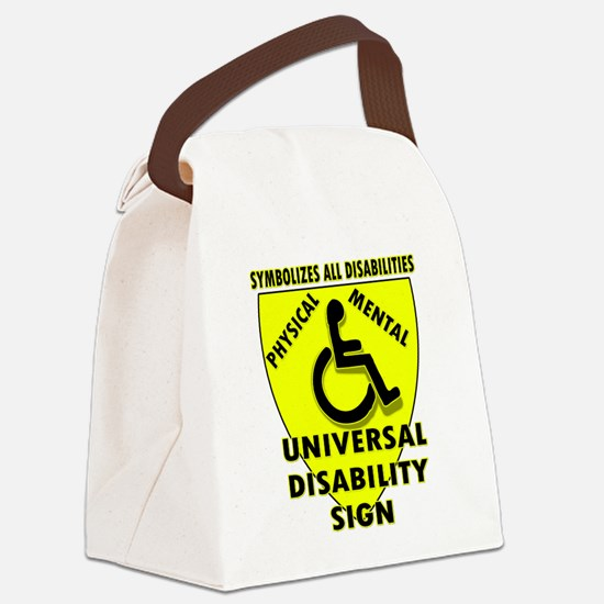DISABILITY SIGN Canvas Lunch Bag