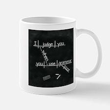 Grammar Diagram (Blk sq) Mugs