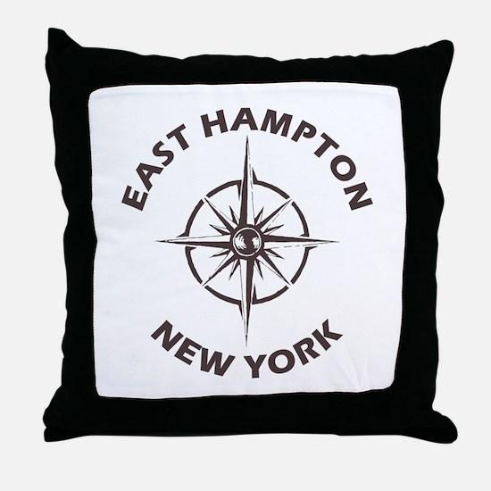 New York - East Hampton Throw Pillow