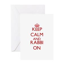 Keep Calm and Rabbi ON Greeting Cards