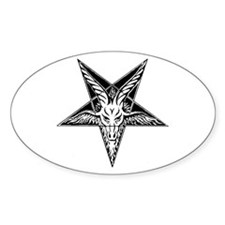 Goat of Mendes Oval Decal