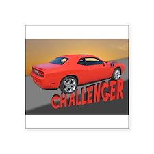 "Cute Challenger Square Sticker 3"" x 3"""