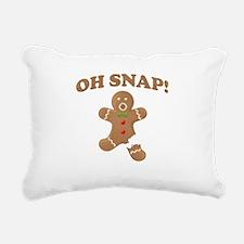 Oh, SNAP! Gingerbread Man Rectangular Canvas Pillo