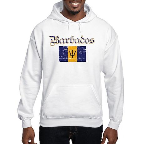 Bajan distressed flag Hooded Sweatshirt