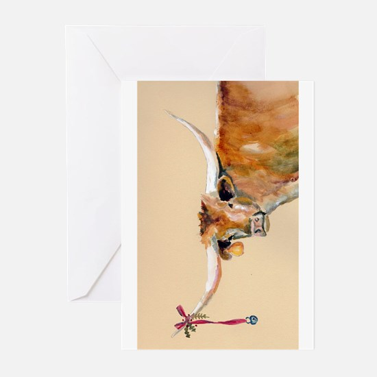 Long Horn Christmas Greeting Cards (Pk of 20)
