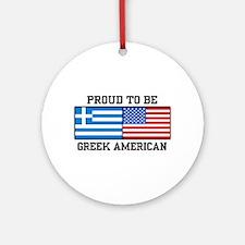Greek American Ornament (Round)