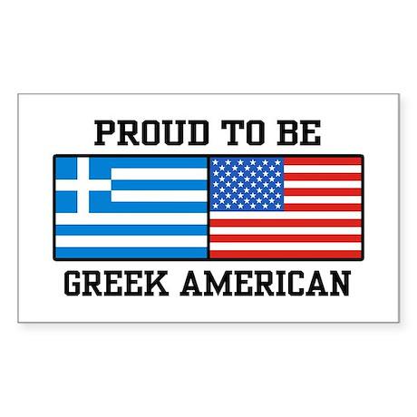 Greek American Rectangle Sticker
