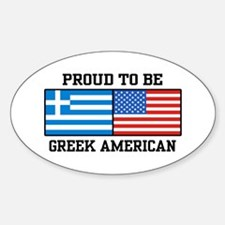 Greek American Oval Decal