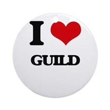 I Love Guild Ornament (Round)