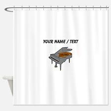 Custom Baby Grand Piano Shower Curtain