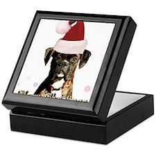 Christmas Boxer Dog Keepsake Box