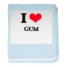 I Love Gum baby blanket