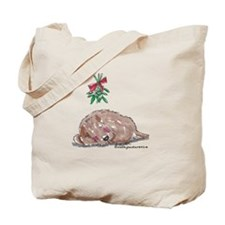 Goldendoodle Mistletoe Tote Bag