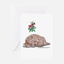 Goldendoodle Mistletoe Greeting Cards (Pk of 20)