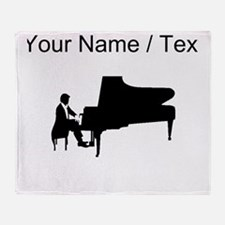 Custom Piano Player Throw Blanket