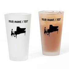 Custom Piano Player Drinking Glass