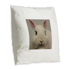 Dwarf Hotot Stare Burlap Throw Pillow