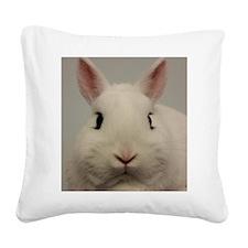 Dwarf Hotot Stare Square Canvas Pillow