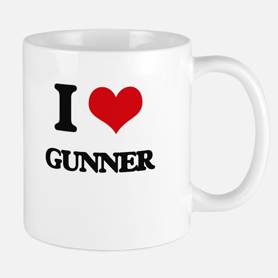 I Love Gunner Mugs
