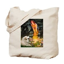 Midsummers Eve & Great Pyrenees Tote Bag