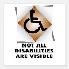 """DISABILITY NOT Square Car Magnet 3"""" x 3"""""""