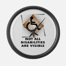 DISABILITY NOT Large Wall Clock