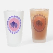 Purple Elephant Drinking Glass