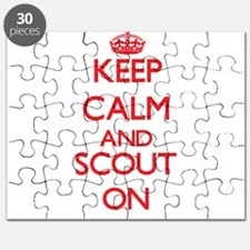 Keep Calm and Scout ON Puzzle