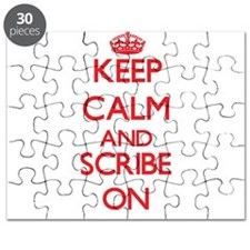 Keep Calm and Scribe ON Puzzle