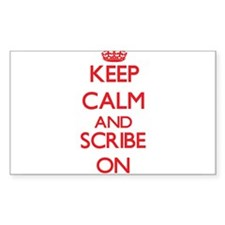 Keep Calm and Scribe ON Decal