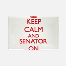 Keep Calm and Senator ON Magnets