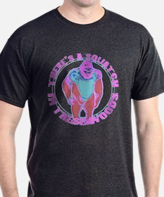 Pink Squatch in the woods T-Shirt