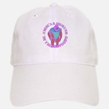 Pink Squatch in the woods Baseball Baseball Cap