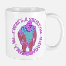 Pink Squatch in the woods Mug