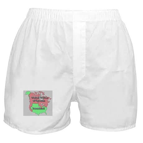 Jesusland / US of Canada Boxer Shorts