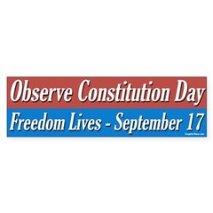 Constitution Day Bumper Bumper Sticker
