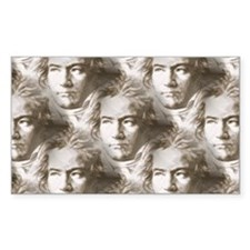 Beethoven Portrait Pattern Decal