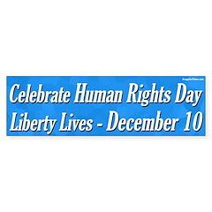 Human Rights Day Bumper Bumper Sticker